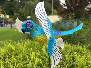 PARROT-whirligig-garden-wind-spinner-garden-windmill-patio-ornament