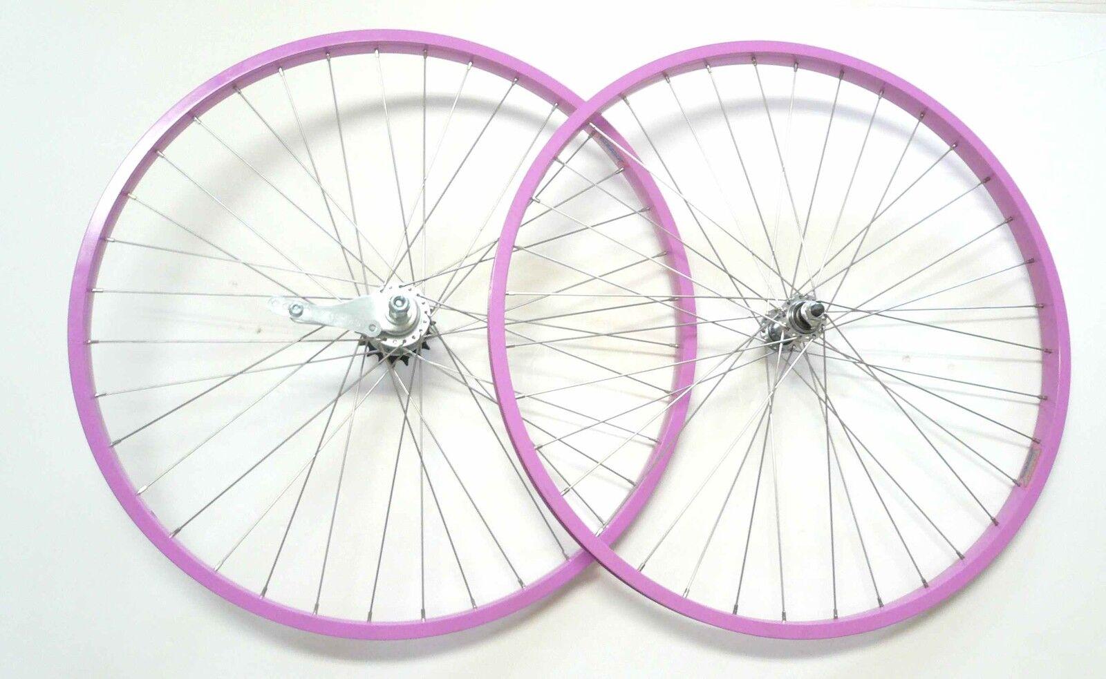 Beach Cruiser bike 26 x1.75 Rear & Front Wheels Rims Pink