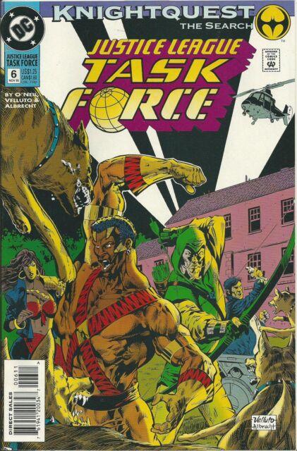 """JUSTICE LEAGUE TASK FORCE #6 (DC) BATMAN """"KNIGHTQUEST"""" (NM-)"""