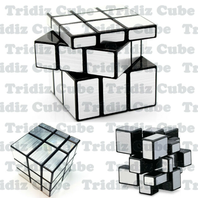 3x3x3 Silver ShengShou Mirror Bump cube twisty puzzle smooth New - US SELLER -