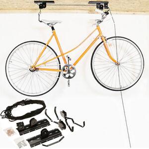 Cycle Hanger Lift Pulley Hoist Bike Bracket Space Saving Bicycle Storage