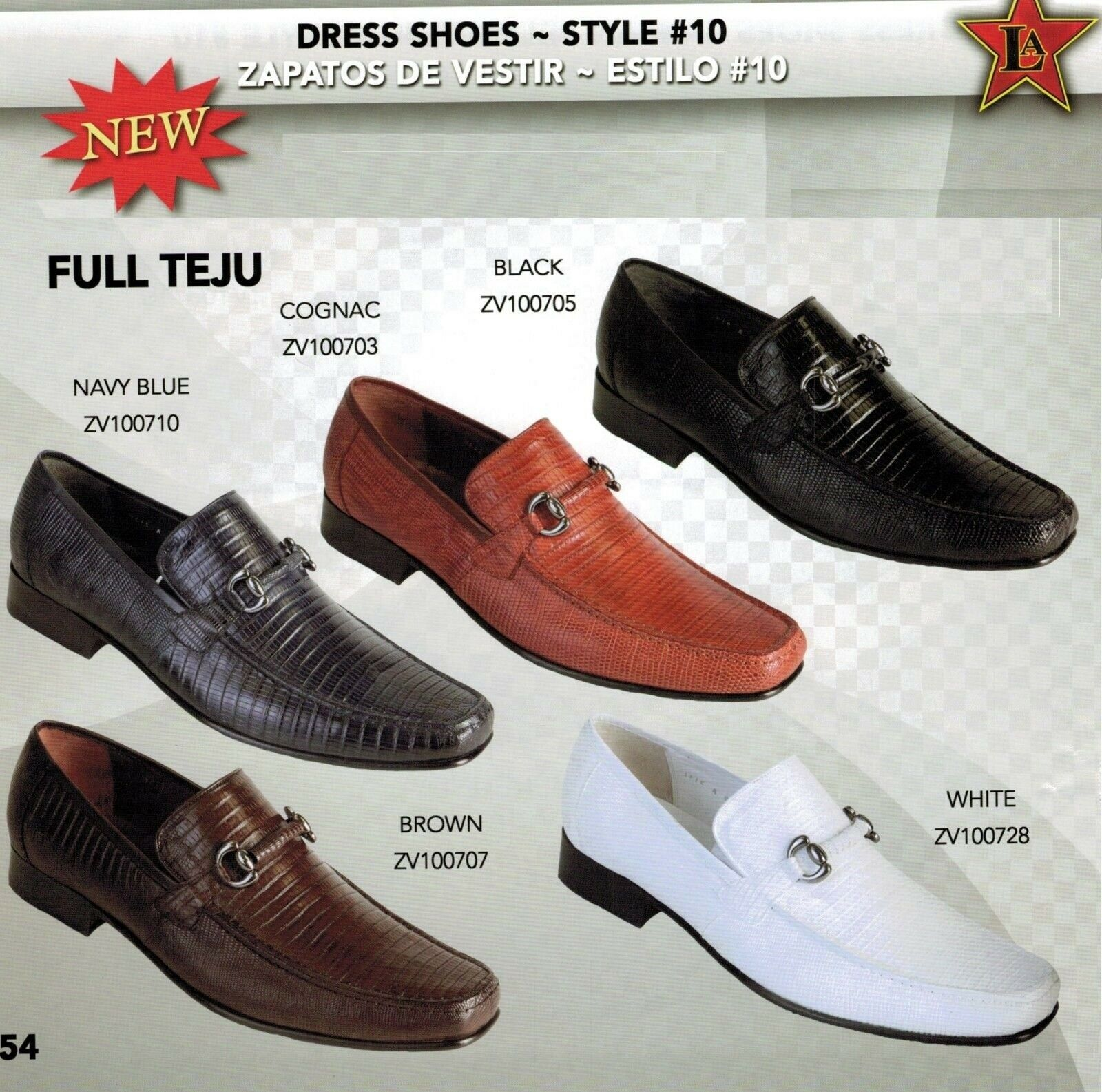 Los Altos Men's Style  10 Full Teju Lizard Skin Slip On Loafer Dress shoes