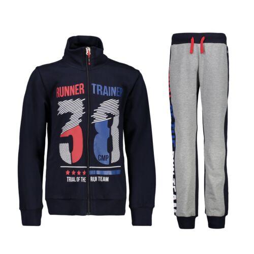 CMP Survêtement Jogging Costume sport costume bleu col montant Print Décontracté