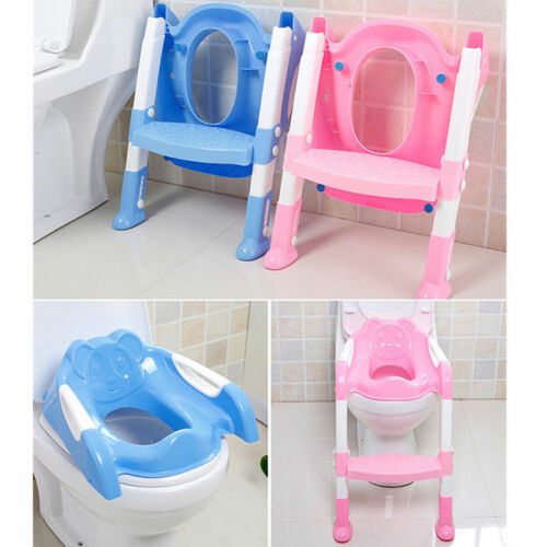 Children's Kids Toilet Ladder Potty Training Chair Step Up Ladder PINK and BLUE
