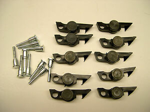 Ten-American-Flyer-Black-Weight-Link-Couplers-w-Pins