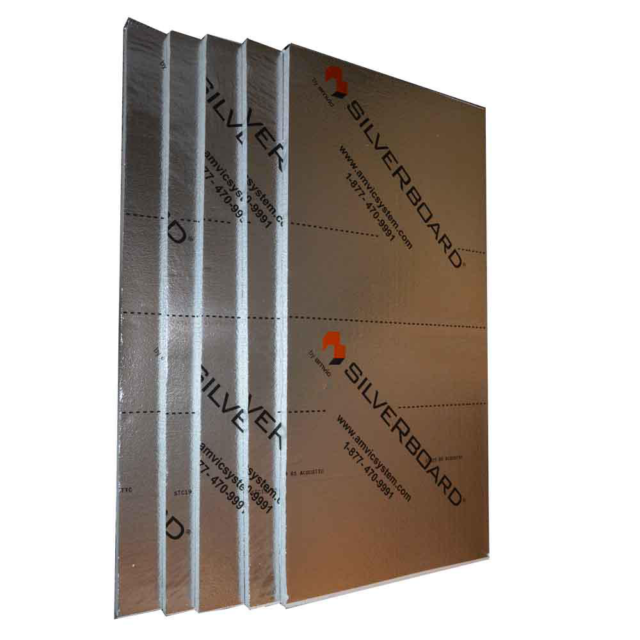 "R5 Radiant SilveRboard Acoustic Rigid Foam Insulation Kit 5 Piece 24/""x1 /""x48/"""
