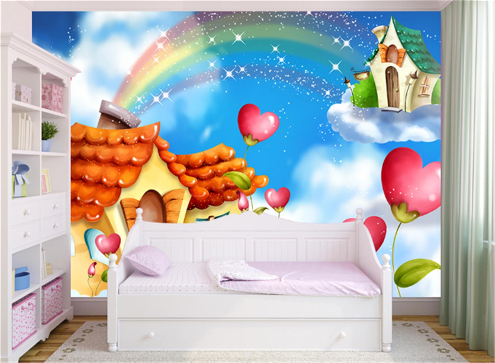 3D Himmel Karikatur Haus 8003 Tapete Wandgemälde Tapeten Bild Familie Familie Familie DE Lemon   Lebhaft und liebenswert    Deutschland Store     321579