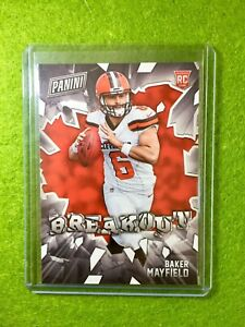 BAKER-MAYFIELD-ROOKIE-CARD-BROWNS-SP-RC-2018-Panini-Baker-Mayfield-BREAKOUT-RB1