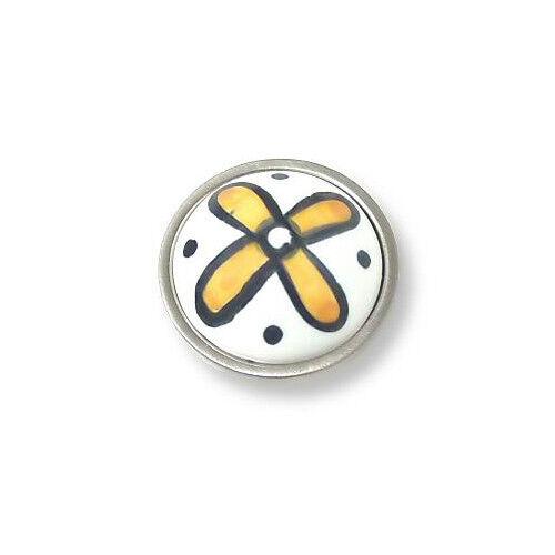 "Betsy Fields Yellow Flower Knob 1-3//8/"" LQ-PBF355-Y-10516"