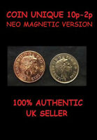 COIN UNIQUE 10p 2p CLOSE UP MAGIC TRICK [VANISHING COIN MAGIC] MAGNETIC VERSION