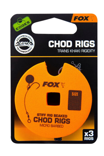 Fox Edges Chod Rig Barbed Standard Chodrig Chod Rigs Karpfenhaken Hooks