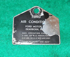 1969 1970 Ford Mustang Mach 1 Grande Cnv Torino GT Cobra ORIG A/C COMPRESSOR TAG