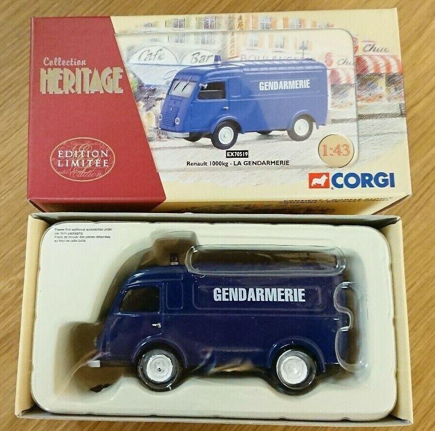 Corgi EX70519 Renault 1000kg LA GENDARMERIE Ltd Edition No. 0122 of 2100
