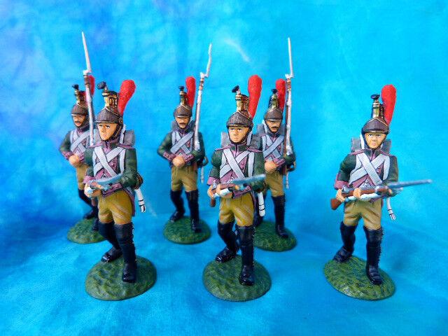 Frontline - premier empire - 6 dragons à pied de la garde au combat (lot 5)
