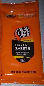 Dead Down Wind Ddw Odor Control Dryer Sheets 15 Pack Broad Spectrum 1113 lGbTLL1M-07143452-809908112