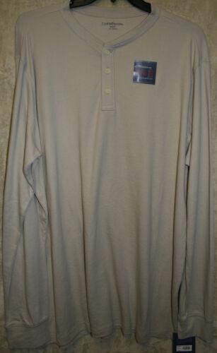 NWT Croft /& Barrow long short sleeve Henley shirt knit 3 button neck Cotton Soft