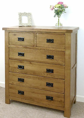 Rustic Oak 2+4 chest of drawers