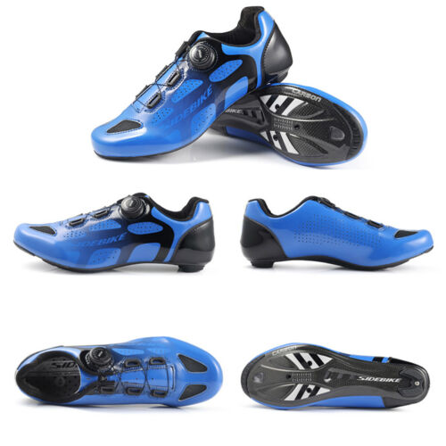 Mens Road Bike Cycling Shoes Carbon Fiber Sole Racing Self-lock Bicycle Shoes