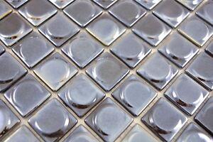 Mosaïque carreau ECO recyclage noir métallisé cuisine 3DR mur 350 ...