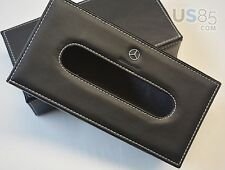 Benz Leather Car Tissue Box Cover Napkin Paper Holder Towel Dispenser Decoration