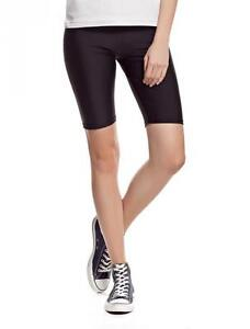 LADIES-STRETCHY-COTTON-LYCRA-ABOVE-KNEE-SHORT-ACTIVE-CASUAL-SPORT-LEGGINGS