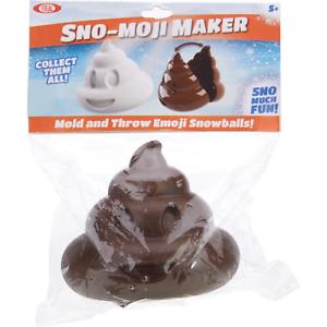 Snowball Shape Mold New Emoji Poo Sealed Alex Brands Sno-Moji Maker