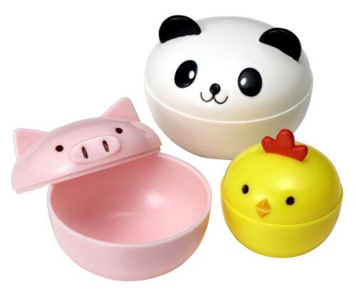 Mini Condiment Containers for Bento Box Panda Piggy and Chick
