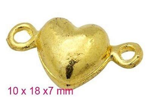 2 cierres magnéticos cierre magnético corazón forma plata oro bronce cerrar