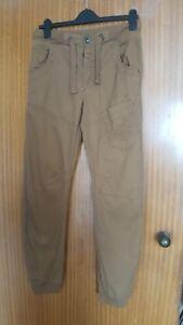 gamba chiaro marrone 989 marrone Jeans W30 Jeans gamba Mens Ze'enzo taglia L32 polsini 06qpw