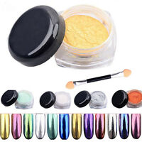 2g/Box Glitter Mirror Chrome Effect Dust Magic Shimmer 12 COLORS Nail Art Powder