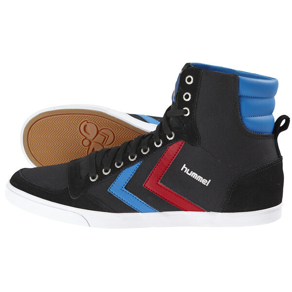 HUMMEL SLIMMER STADIL HIGH SCHUHE HIGH TOP SNEAKER BLACK BLUE RED 63-511-2640