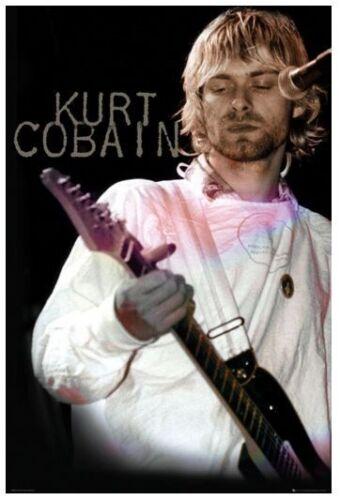 KURT COBAIN POSTER ~ PINK GUITAR~ 24x36 Nirvana Music Rock