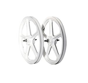 20  Skyway Tuff Wheel 2 Mag WHEEL SET WHITE 20  Freewheel WHEELSET