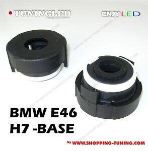 2 adaptateur origine montage kit xenon hid bmw e46 h7 ebay. Black Bedroom Furniture Sets. Home Design Ideas