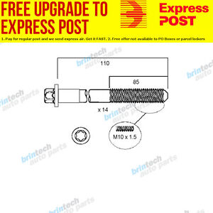 Details about 1998-2000 For BMW 323i E46 M52TU B25 Vanos Head Bolt Set