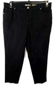 Style-amp-co-black-denim-spandex-stretch-natural-fit-women-039-s-straight-jeans-16WP