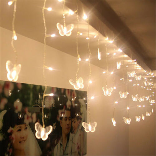 4M 96 LED 18Pcs Butterfly String Curtain Light For Christmas Holiday Xmas Party