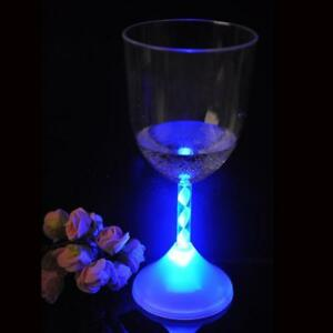 Flashing LED Wine Shot Drink Glass Light Up Party Barware Wedding Cup Bar 699911976995