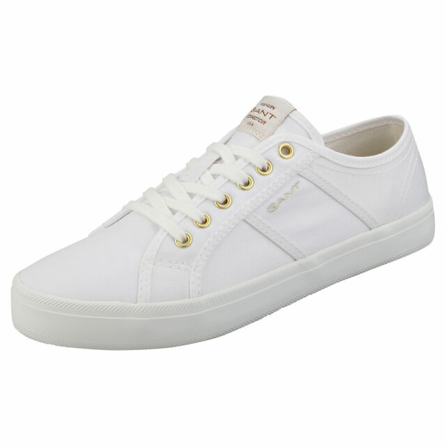GANT Zoee Womens White Textile Casual