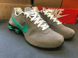 new product 0ee06 323ef Image is loading Mens-Nike-Shox-Deliver-Premium-Sneakers-New-Gray-
