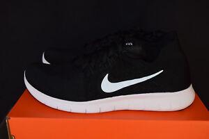 480ad36ff2b06 New Nike Free RN Flyknit 2017 Mens Premium Running Shoes Sz 13 Black ...