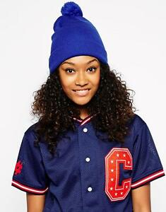 AMERICAN APPAREL ROYAL BLUE CLASSIC POM POM WINTER BEANIE HAT - NEW ... 963857efc45