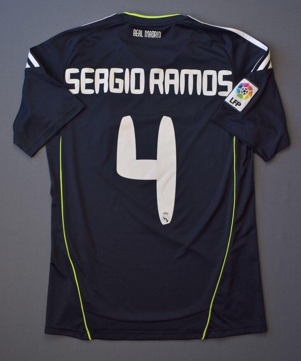Jersey de Real Madrid Sergio Ramos 2010 11 Away Camiseta De Fútbol Talla S Adidas 5 5
