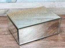 Champagne glitter mirrored jewellery box trinket storage
