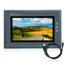 7 Inch 800 X 480 Hmi Touch Screen Comrs232422485 With Programming Cable