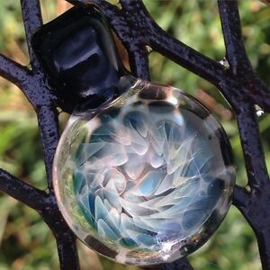 image is loading silver fumed hurricane pendant heady glass boro - Heady Glass Pendants