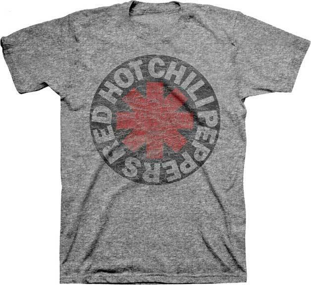 RED HOT CHILI PEPPERS DISTRESSED ASTERISK ROCK MUSIC BAND GRY T TEE SHIRT S-2XL