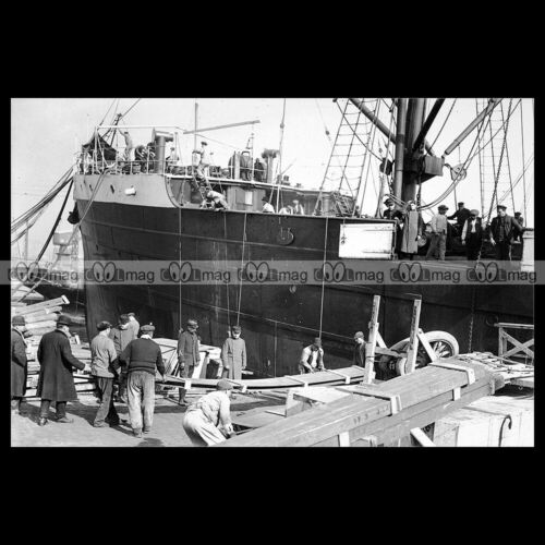 #php.03838 Photo SS IMERETHIE COMPAGNIE PAQUET PAQUEBOT-CARGO MARSEILLE 1912
