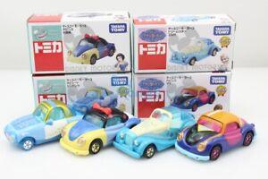 Tomica-Takara-Tomy-Disney-Motors-Princess-4X-SET-snow-white-Diecast-Toy-Car