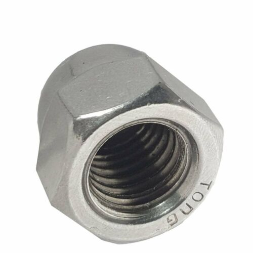 3//8-24 Acorn Cap Nuts Stainless Steel 18-8 Standard Height Quantity 100